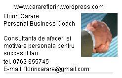 Florin Carare tel 0762655745 carte de vizita fata informatii de contact